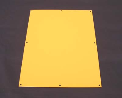 Control cabinet cover - yellow powder coat finish
