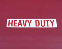 Side 'Heavy Duty' decal set (E8M)