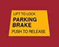 Parking Brake Decal (Large Frame)